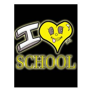 i love school yellow school bus edition postcard