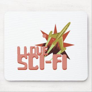 I Love Sci-Fi Mouse Pad