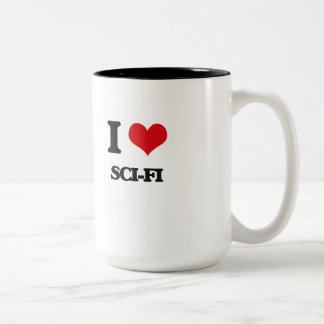I Love Sci-Fi Two-Tone Coffee Mug