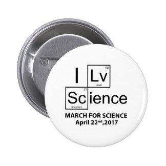 I Love Science 2 Inch Round Button