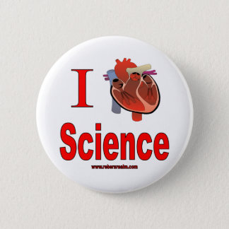 I love science 2 inch round button