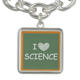 I Love Science Charm Bracelets