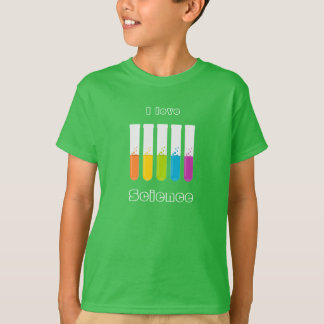 """""""I Love Science"""" Colorful Test Tubes T-Shirt"""