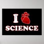 i love science / i heart science / anatomy poster