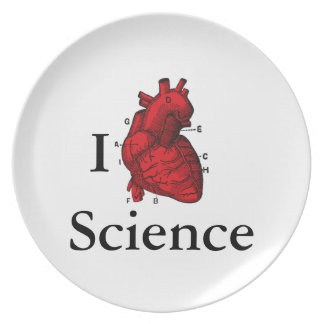 I Love Science Plate