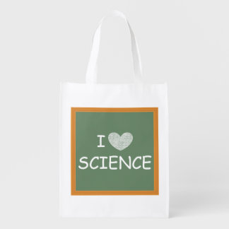 I Love Science Reusable Grocery Bag
