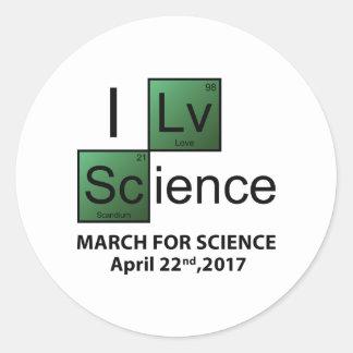 I Love Science Round Sticker