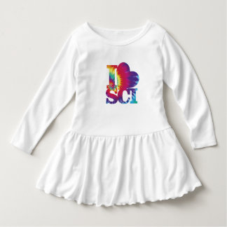 I Love Science Toddler Ruffle Dress
