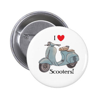 I love Scooters! Button badge