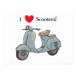 I love Scooters! Postcard