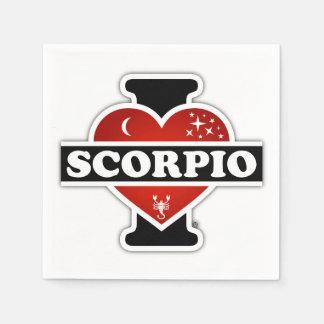 I Love Scorpio Paper Napkins