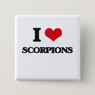 I love Scorpions 2 Inch Square Button
