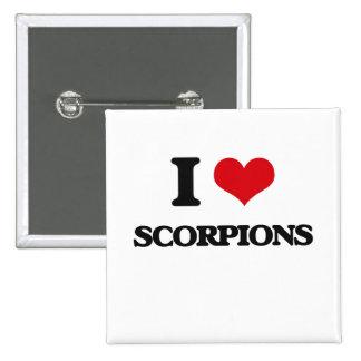 I love Scorpions 2 Inch Square Button