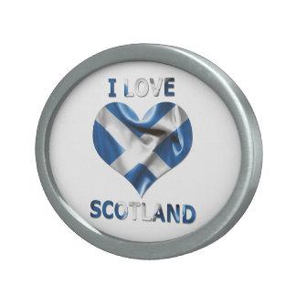 I Love Scotland Heart Flag Belt Buckle