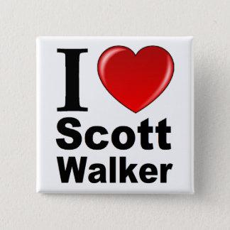 I Love Scott Walker 2 Inch Square Button