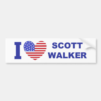 I Love Scott Walker Bumper Sticker