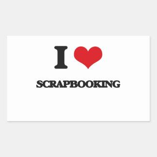 I Love Scrapbooking Rectangular Stickers