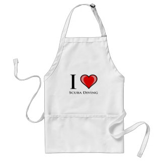 I Love Scuba Diving Standard Apron