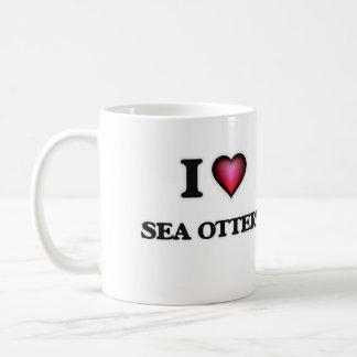 I Love Sea Otters Coffee Mug