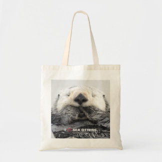 I LOVE SEA OTTERS TOTE BAG