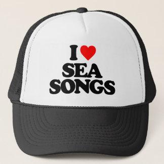 I LOVE SEA SONGS TRUCKER HAT