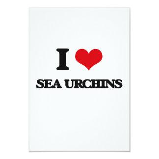 "I love Sea Urchins 3.5"" X 5"" Invitation Card"