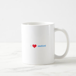 I Love Seafood Logo Coffee Mug