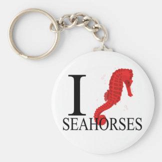 I Love Seahorses Keychains