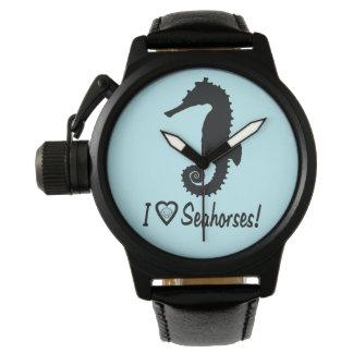 I Love Seahorses! Wrist Watches