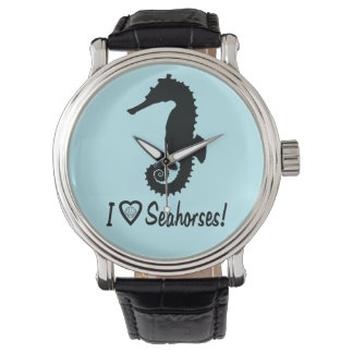 I Love Seahorses! Wristwatches