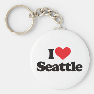 I Love Seattle Keychain