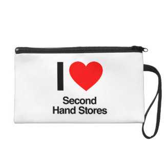 i love second hand stores wristlet clutch