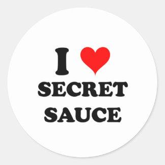 I Love Secret Sauce Round Sticker