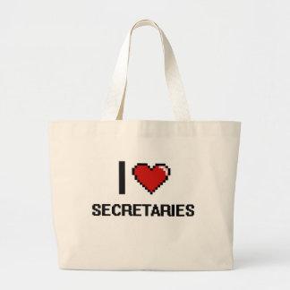 I love Secretaries Jumbo Tote Bag