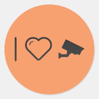 I Love Security Cameras Round Sticker