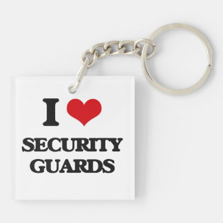 I love Security Guards Key Chain