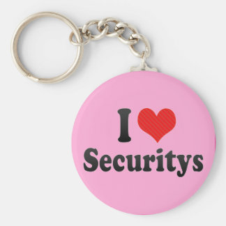 I Love Securitys Key Chain