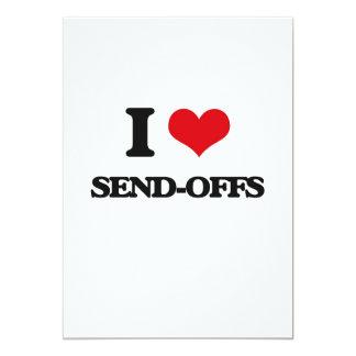 "I Love Send-Offs 5"" X 7"" Invitation Card"