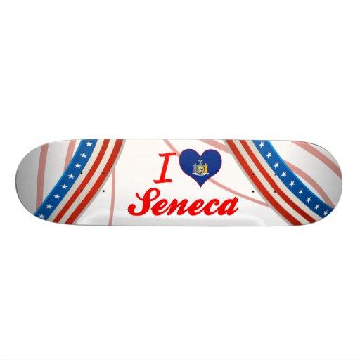 I Love Seneca, New York Custom Skate Board