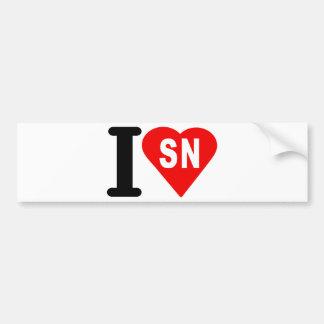 i_love_Senegal.png Bumper Sticker