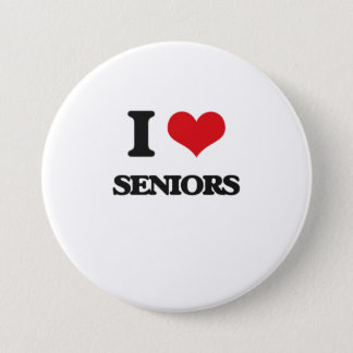 I Love Seniors 3 Inch Round Button