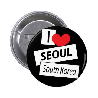 I Love Seoul South Korea 2 Inch Round Button