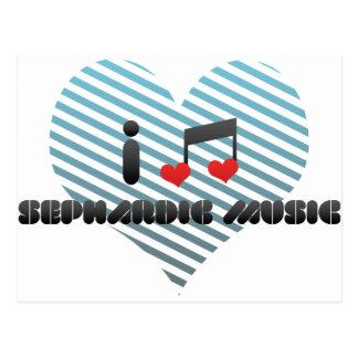 I Love Sephardic Music Postcard