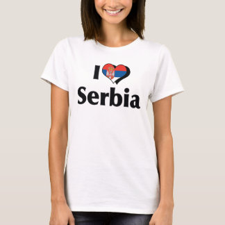 I Love Serbia Flag Shirt