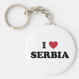 I Love Serbia Keychain