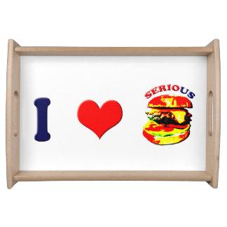 I Love Serious Burgers(horizontal) Food Trays