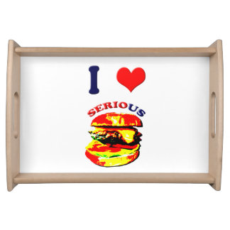 I Love Serious Burgers Serving Trays