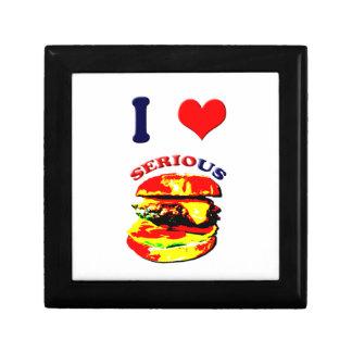 I Love Serious Burgers Trinket Box