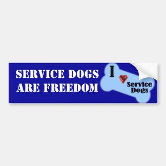 I Love Service Dogs Bumper Sticker