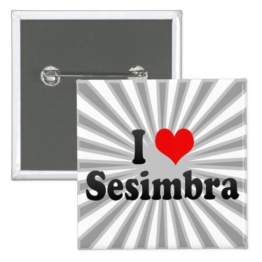 I Love Sesimbra, Portugal Pinback Buttons